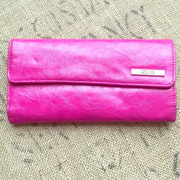 Kenneth Cole Handbags - Kenneth Cole Wallet Hot Pink Color , pre-owned